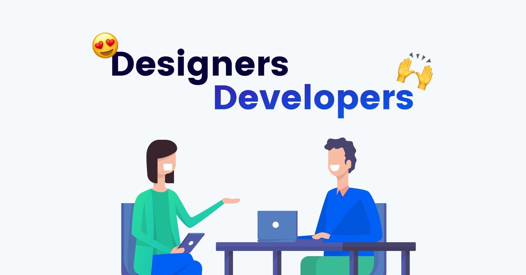 Illustration of a designer and developer collaborating together on an application