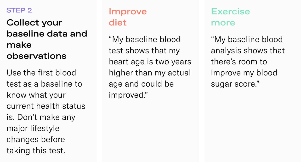 Blood gives direct feedback about your body and health