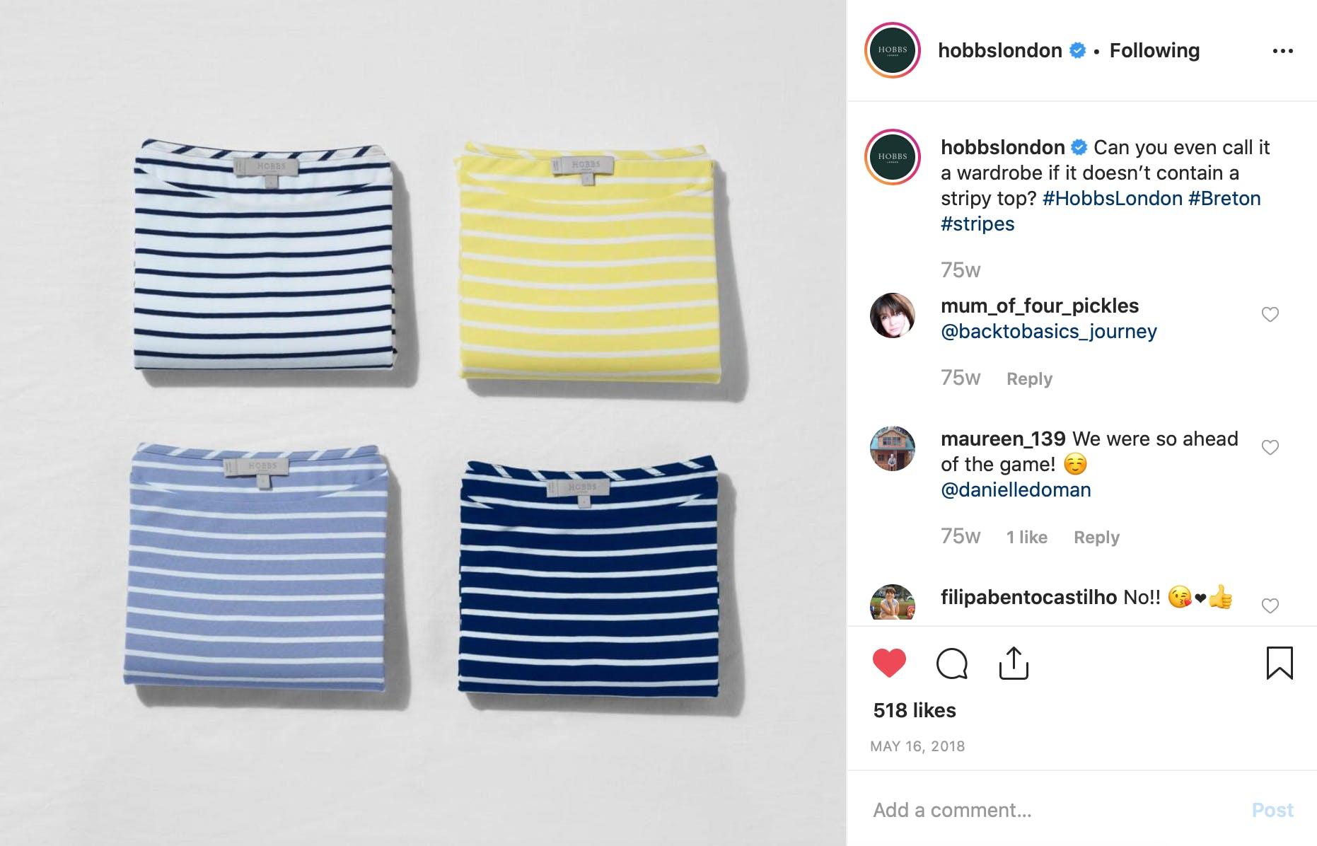 Organic Post - Striped T-shirt