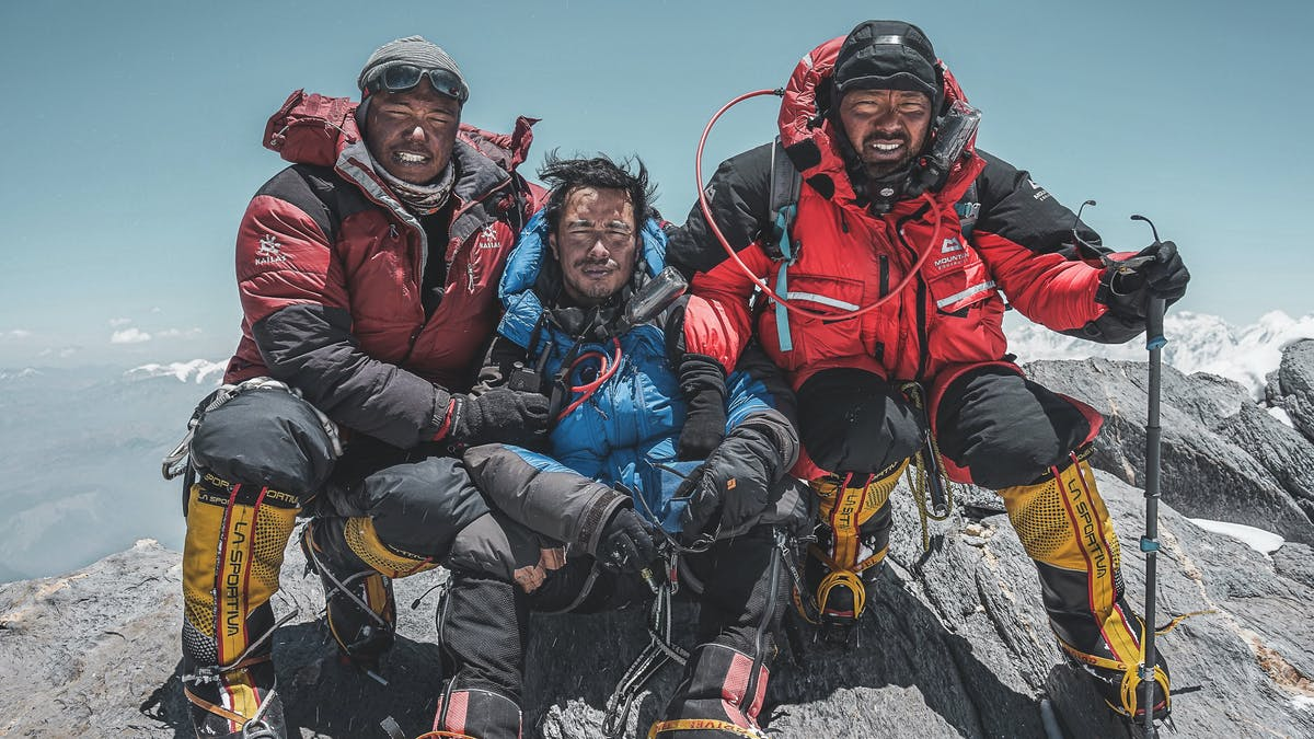 Nims and group on the summit of Lobuche East