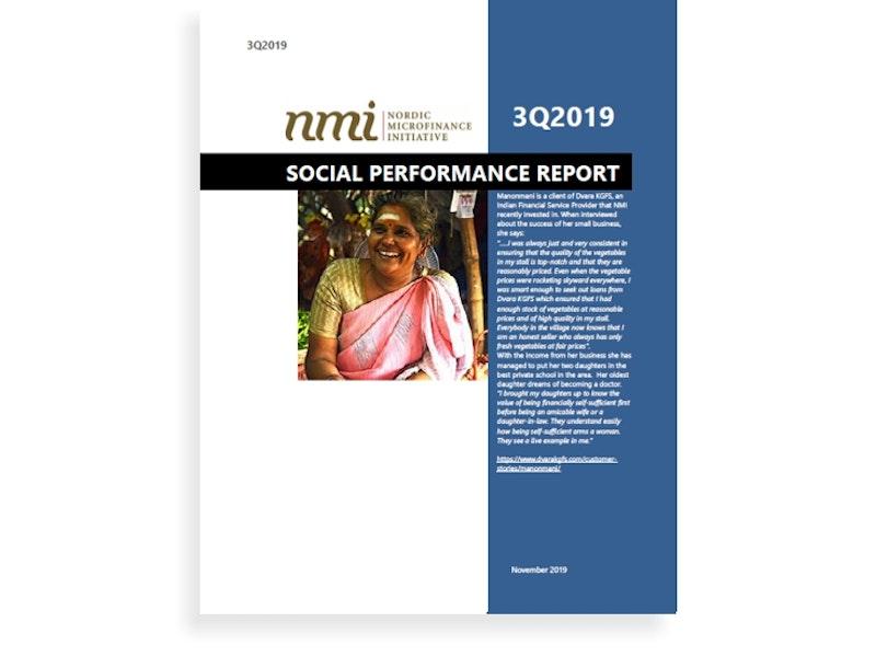 NMI's Social Performance Report 3Q19