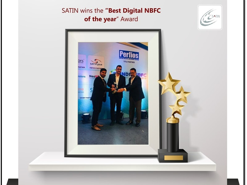 SATIN awarded the best Digital Non-Banking Finance Company (NBFC) of the year 2019