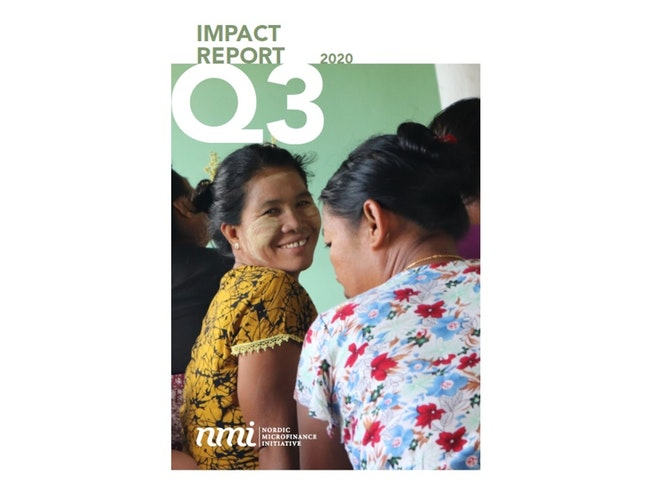 Report cover: Q3 2020 Impact Report