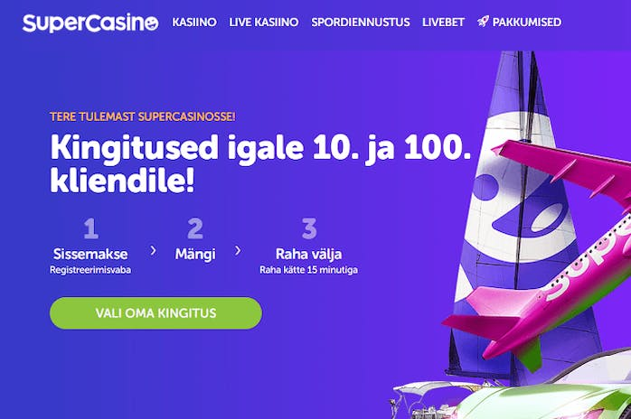 SuperCasino.ee: New Pay n Play Casino in Estonia by Betsson