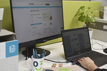 Reporting et outils dans l'espace client Recygo