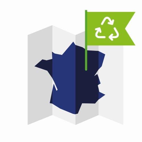 Choisissez des produitsissus de matières recyclées, fabriqués en France.