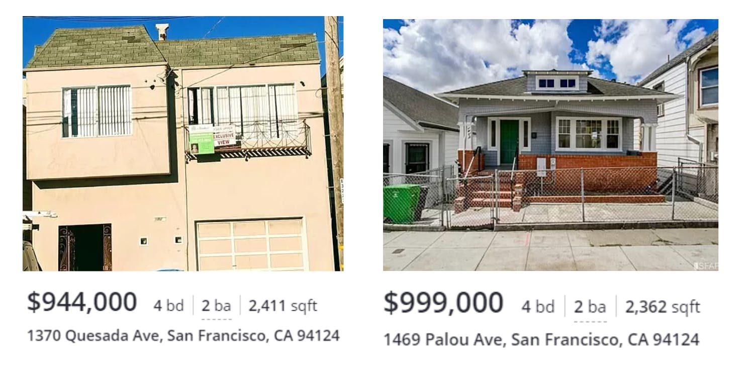 Comparable homes from Zillow