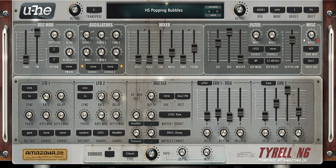 Free virtual analogue classic VST synthesiser plugin