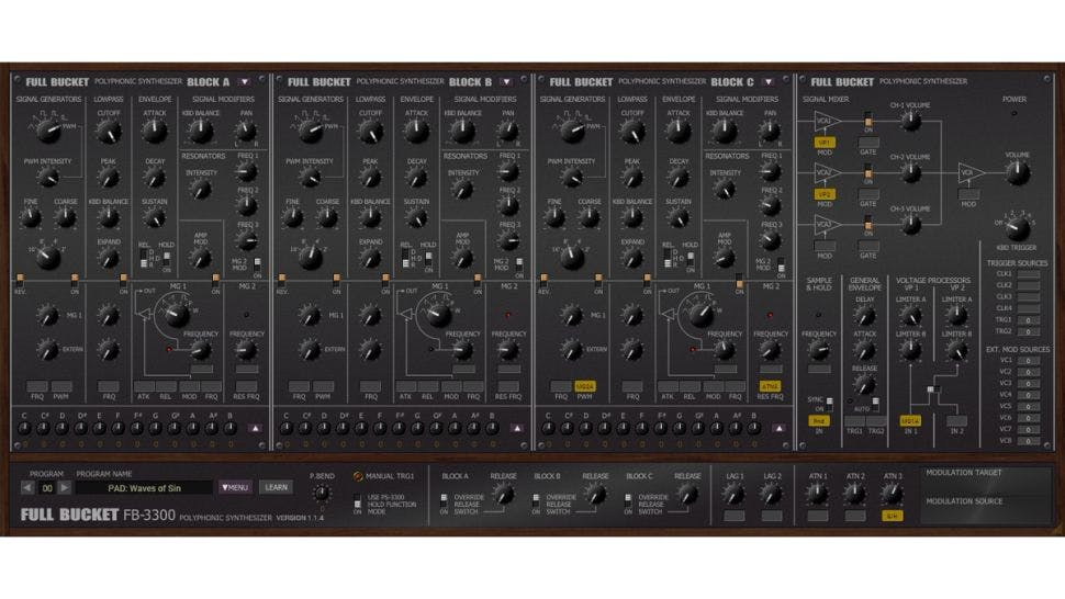 Free FB-3300 VST Synth Plugin
