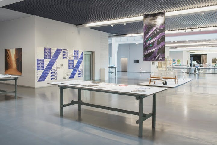 """Exhibition view of """"ECAL Diplômes 2015"""" featuring the diploma work """"Everett font family"""" of Nolan Paparelli, at ECAL/Hall Kudelski, Renens, Switzerland"""