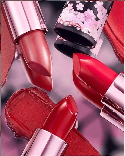 MAC Cosmetics Sakura lipstick shades