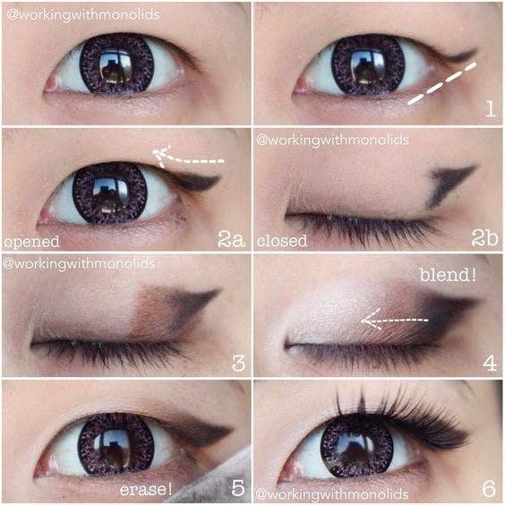 10 Favorite Japanese Korean Eye Makeup Tutorials From Pinterest Nomakenolife The Best Korean And Japanese Beauty Box Straight From Tokyo To Your Door