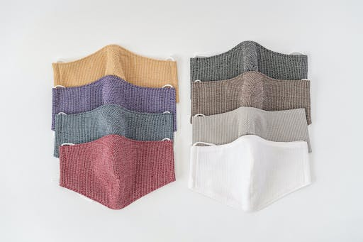 Japanese face masks manufactured with traditional Japanese washi paper