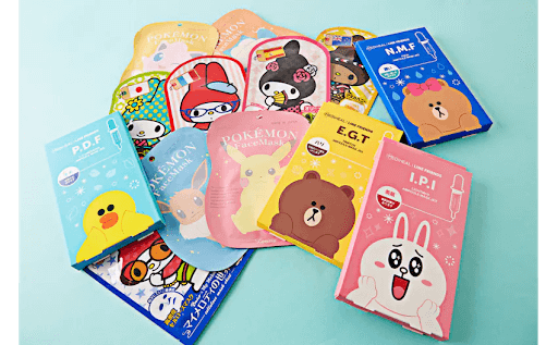 A variety of cute Japanese face masks!