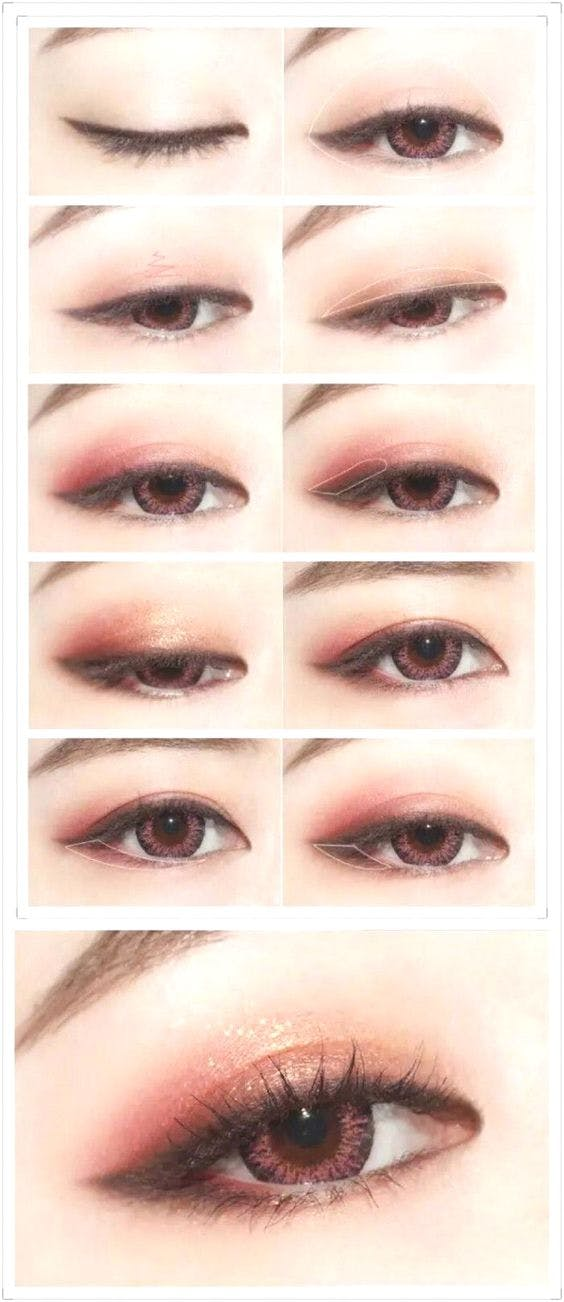 Japanese & Korean eye makeup tutorials