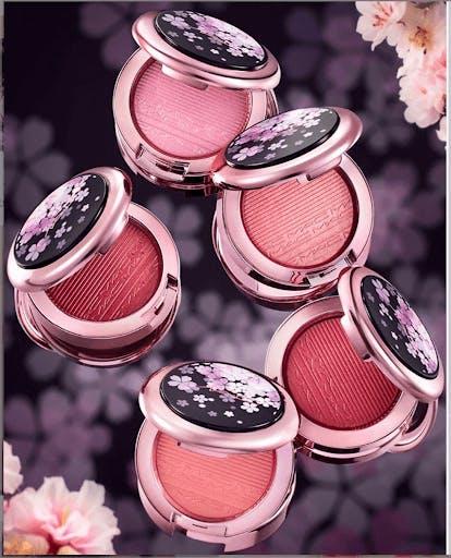 Various shades of MAC Cosmetics Sakura collection makeup