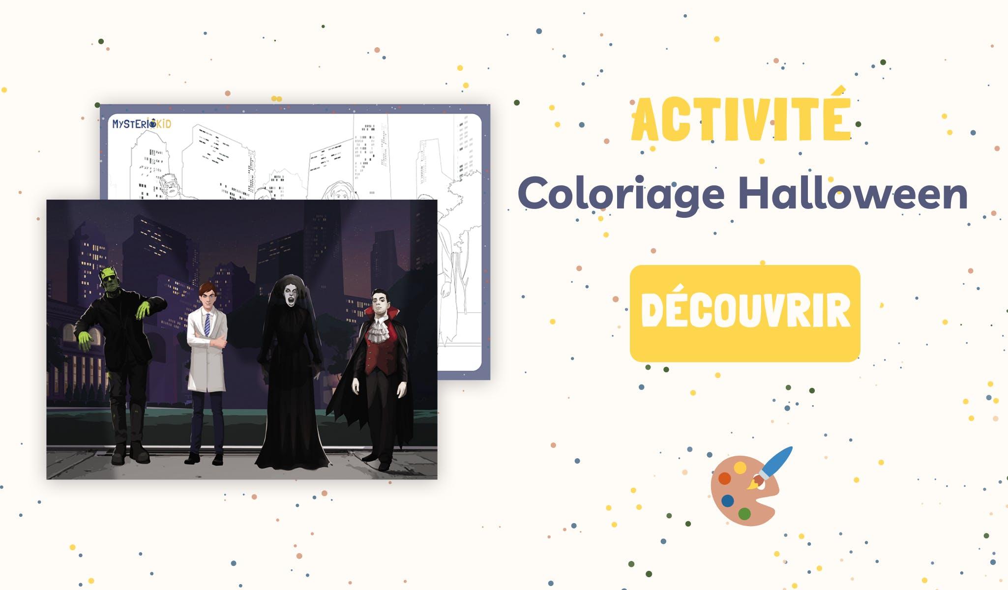 Activité coloriage Halloween à imprimer Mysteriokid