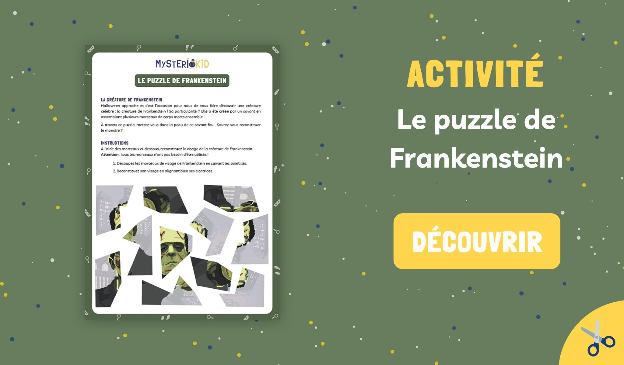 Puzzle de Frankenstein à imprimer et découper