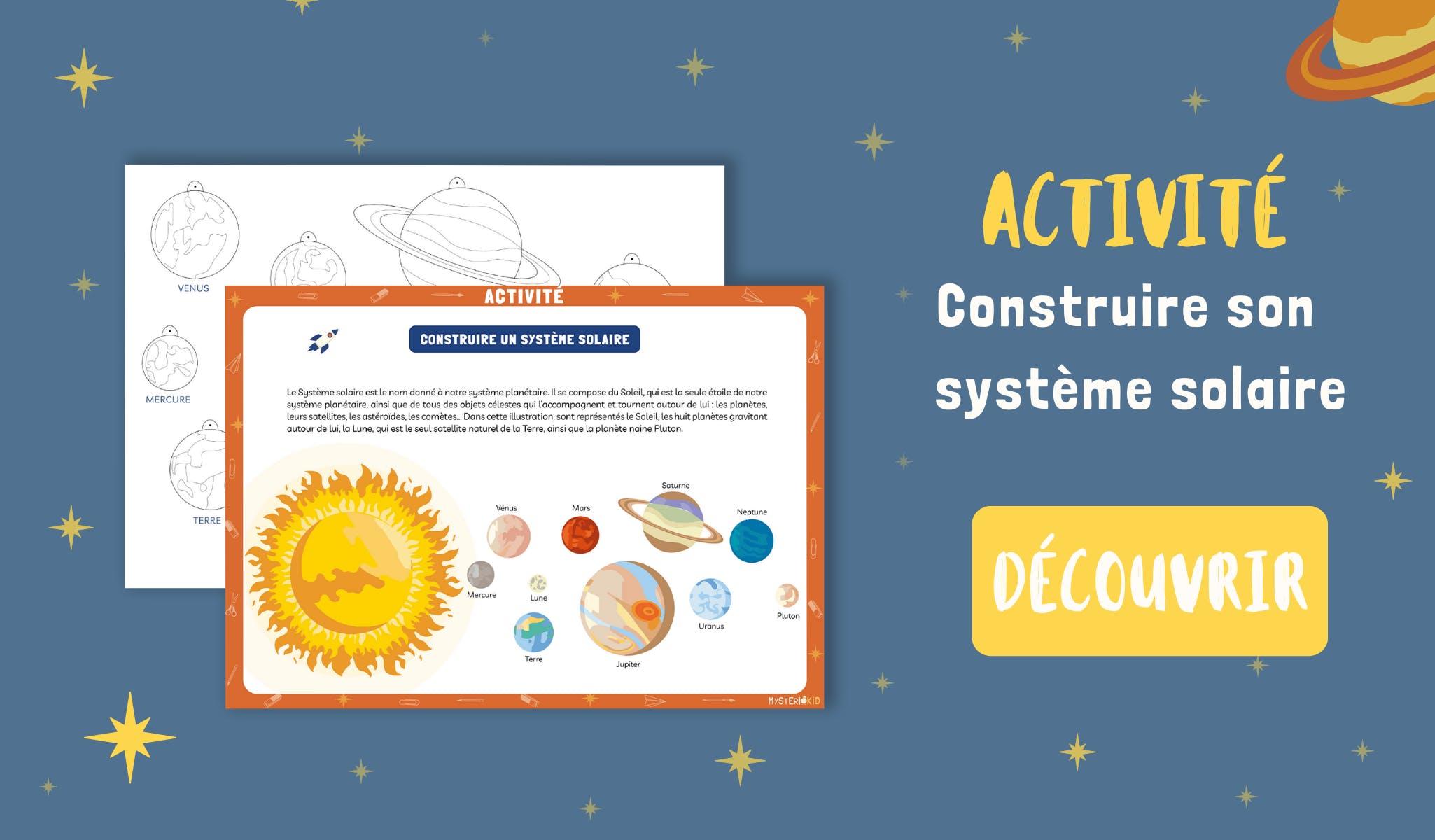 Activité DIY à télécharger gratuitement pour construire son propre système solaire à suspendre