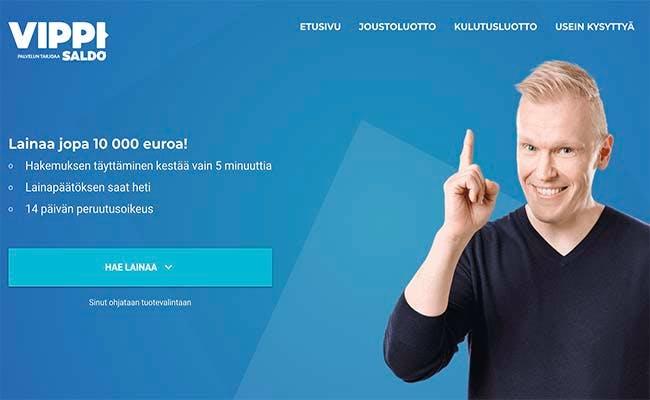 Vippi.fi lainaa jopa 10 000 euroa