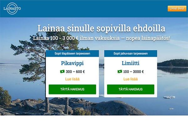 Lainasto.fi pikavippi ja limiitti
