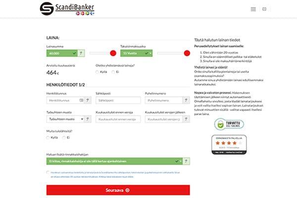 ScandiBanker.fi kotisivu