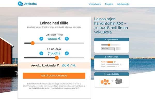 Arkiraha.fi lainat