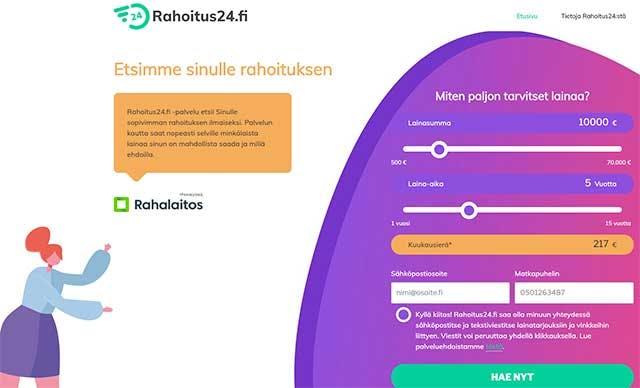 Rahoitus24.fi lainat