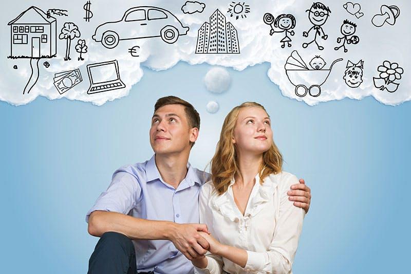 ungt par drömmer om att ta bolån för att köpa bostad