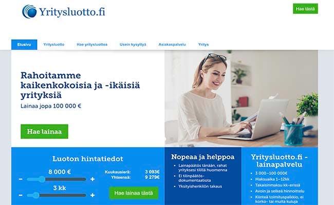 Yritysluotto.fi yrityslainat