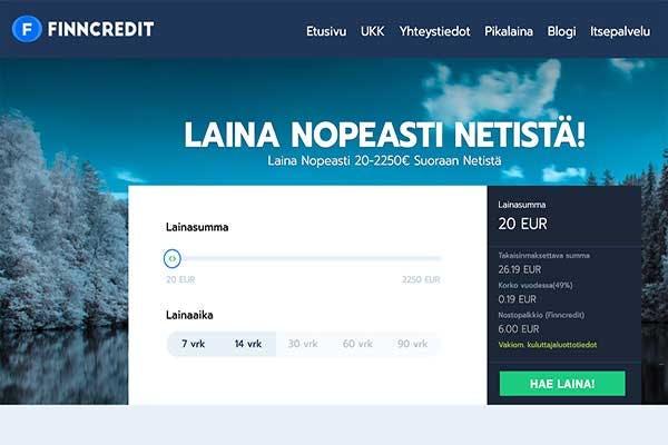 Finncredit - laina nopeasti netistä