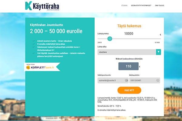 Käyttöraha.fi joustava luotto