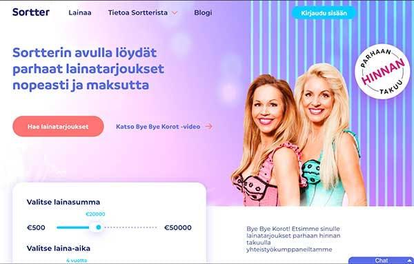 Sortter.fi suomalainen lainapalvelu