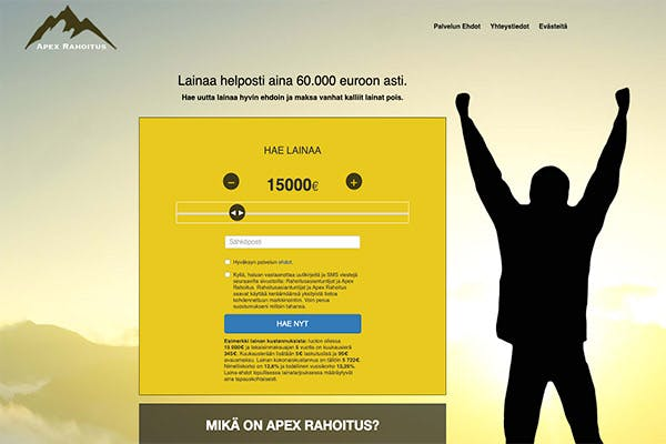 Apex Rahoitus kotisivu