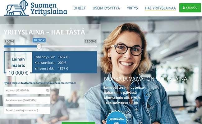 Suomen Yrityslaina kotisivu