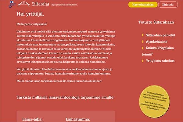 Siltaraha.fi yrityslaina