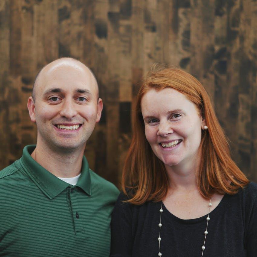 Portrait of Greg and Melissa Steinsdoerfer.