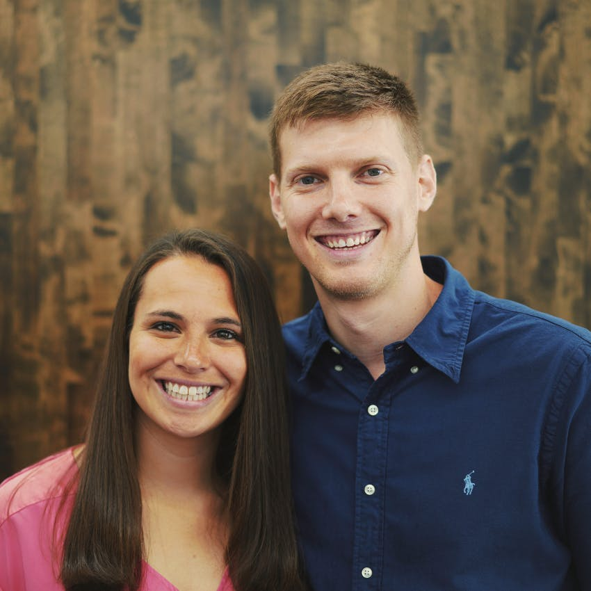 Portrait of Nick and Mallory Sellers.