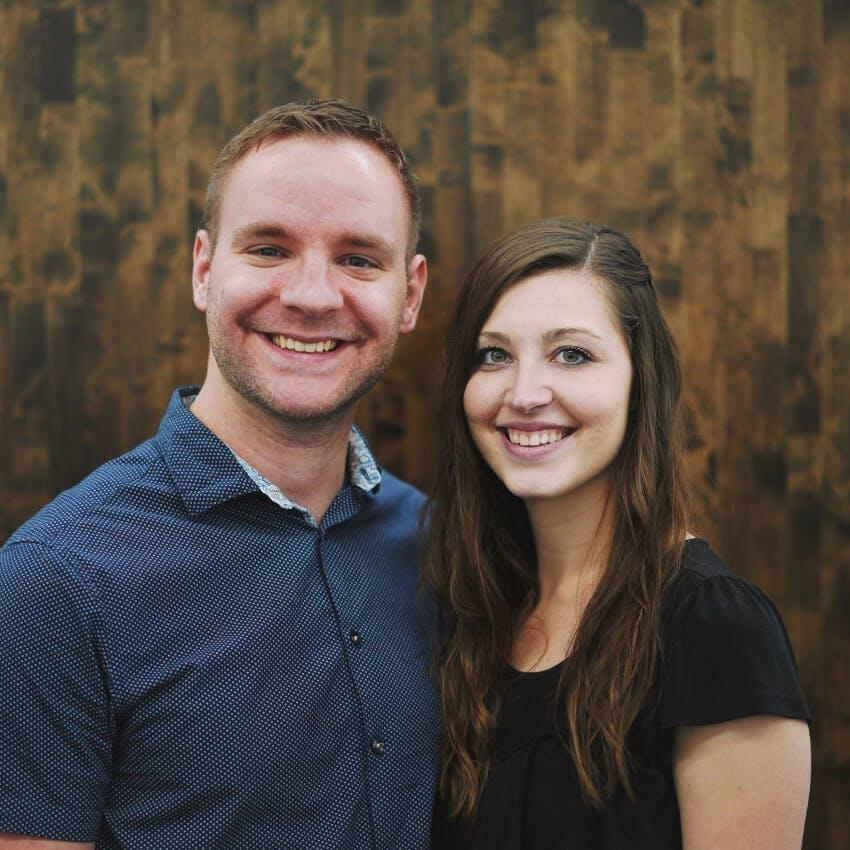 Portrait of Kyler and Lauren Cook.
