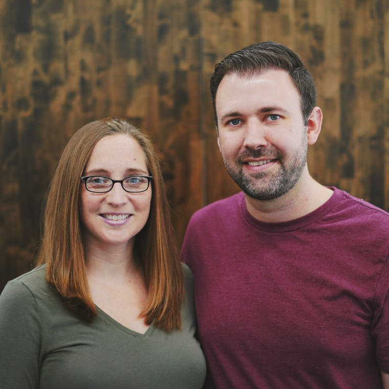 Portrait of Kyle and Holly Wyne.