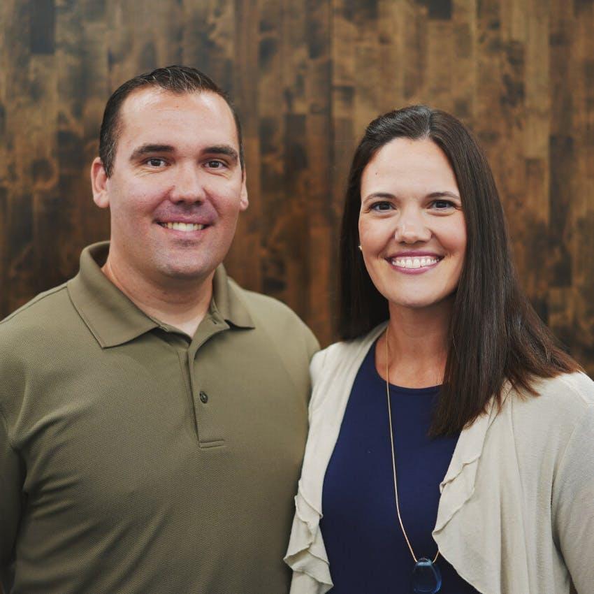 Portrait of Andrew and Emily Schwengel.