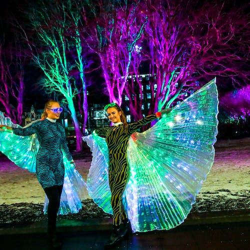 Dancers by Austurvöllur square