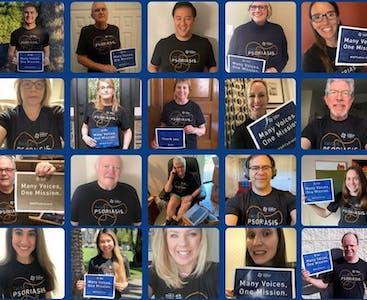 Un collage di volontari e dipendenti NPF.