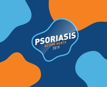 Psoriasis Action Month 2019 graphic.