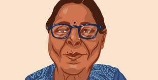 An illustration of Anjana Mudgal.