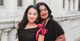 Dedra Pennington has psoriasis and psa and poses with her daughter Tiara, who advocates for those with psoriatic disease.