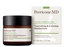 A container of Perricone MD Nourishing and Calming Moisturizer