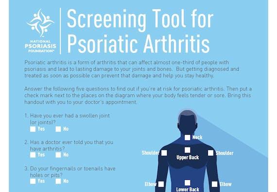 Psoriatic Arthritis screener.