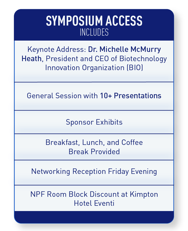 A chart breaks down everything included in Symposium Access.