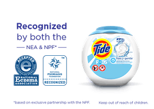 A box of Tide PODS® Free and Gentle Laundry Detergent